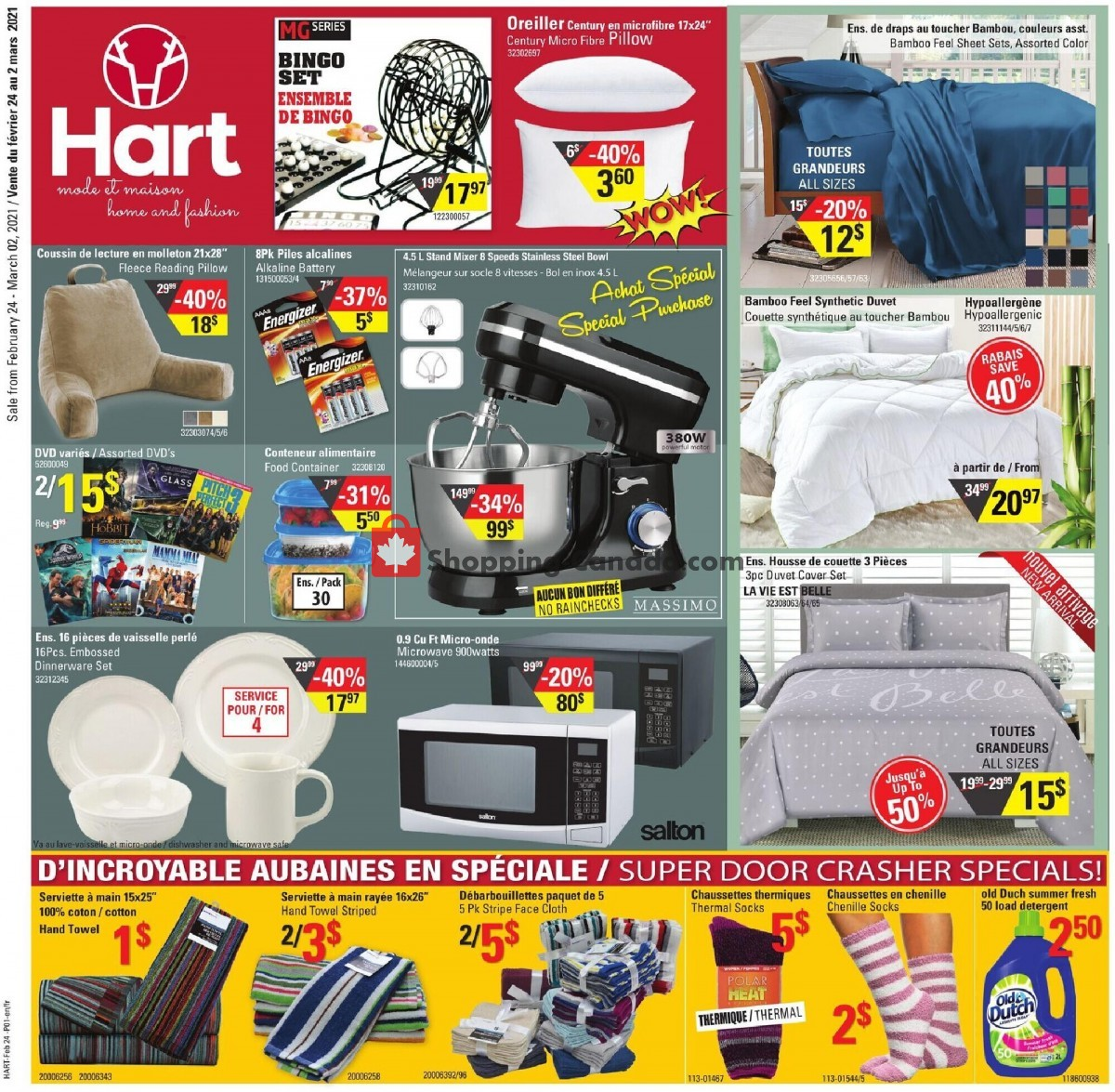 Flyer Hart Canada - from Wednesday February 24, 2021 to Tuesday March 2, 2021