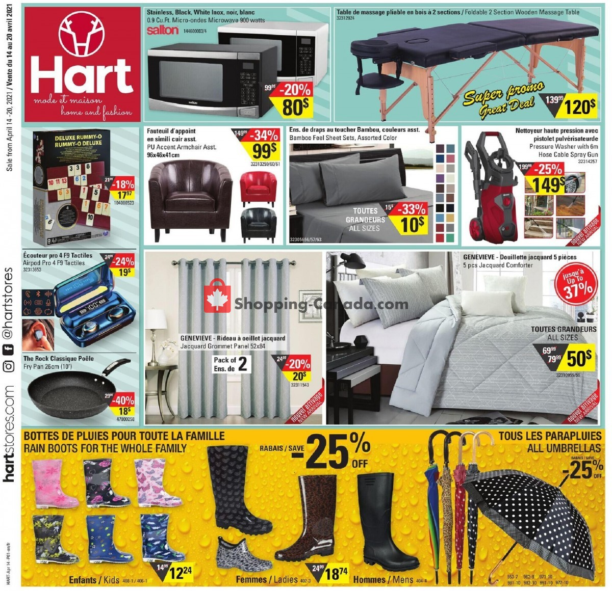 Flyer Hart Canada - from Wednesday April 14, 2021 to Tuesday April 20, 2021