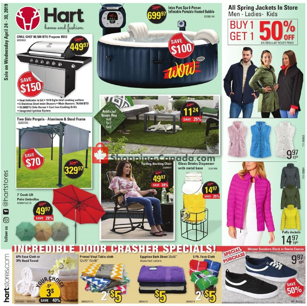 Flyer Hart Canada - from Wednesday April 24, 2019 to Tuesday April 30, 2019