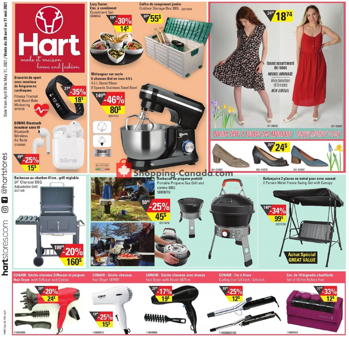 Flyer Hart Canada - from Wednesday April 28, 2021 to Tuesday May 11, 2021