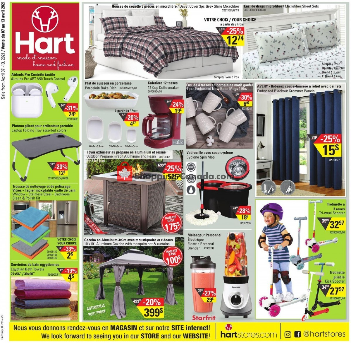 Flyer Hart Canada - from Wednesday April 7, 2021 to Tuesday April 13, 2021