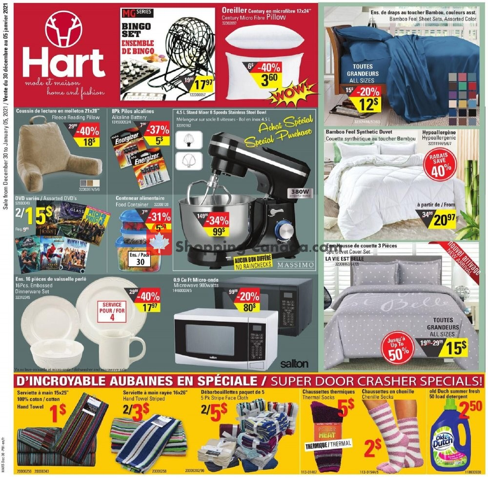 Flyer Hart Canada - from Wednesday December 30, 2020 to Tuesday January 5, 2021