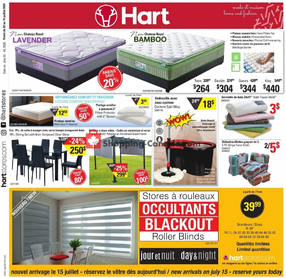 Flyer Hart Canada - from Thursday July 2, 2020 to Tuesday July 14, 2020