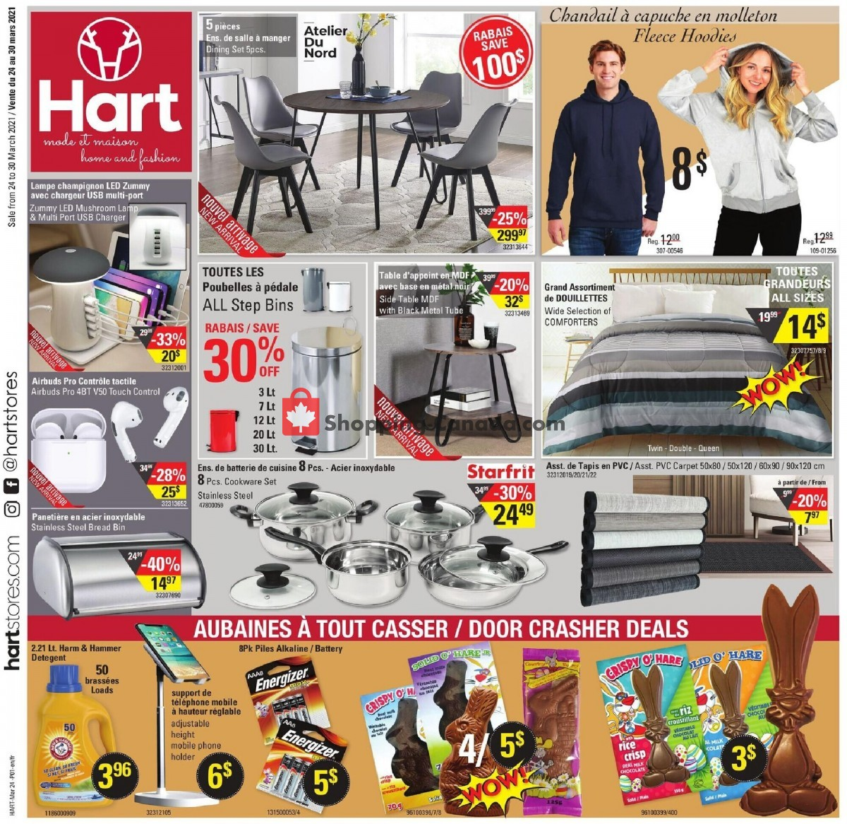 Flyer Hart Canada - from Wednesday March 24, 2021 to Tuesday March 30, 2021