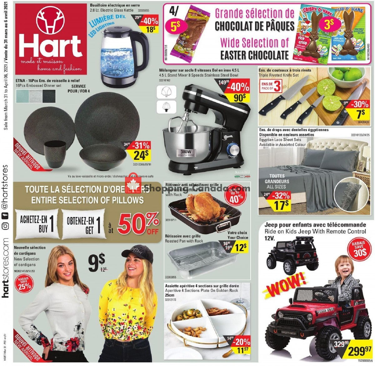 Flyer Hart Canada - from Wednesday March 31, 2021 to Tuesday April 6, 2021