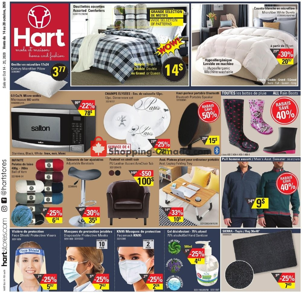 Flyer Hart Canada - from Wednesday October 14, 2020 to Tuesday October 20, 2020