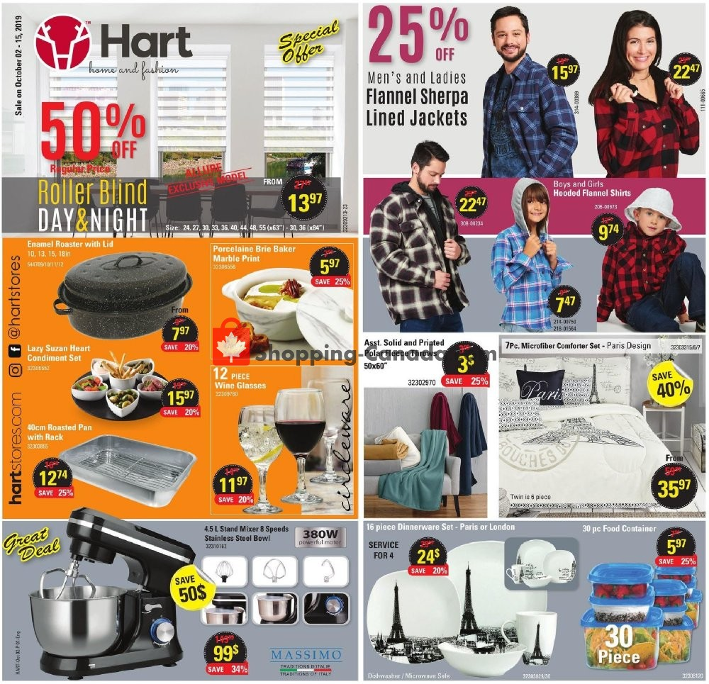 Flyer Hart Canada - from Wednesday October 2, 2019 to Tuesday October 15, 2019