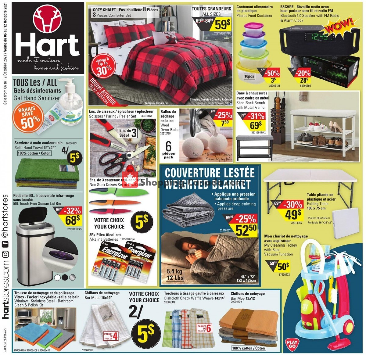 Flyer Hart Canada - from Wednesday October 6, 2021 to Tuesday October 12, 2021