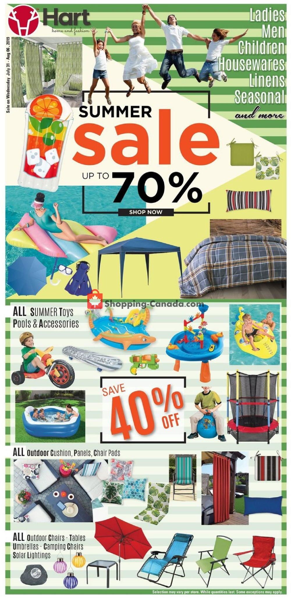Flyer Hart Canada - from Wednesday July 31, 2019 to Tuesday August 6, 2019