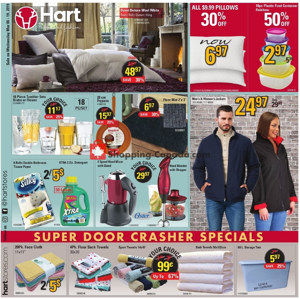 Flyer Hart Canada - from Wednesday March 6, 2019 to Tuesday March 19, 2019