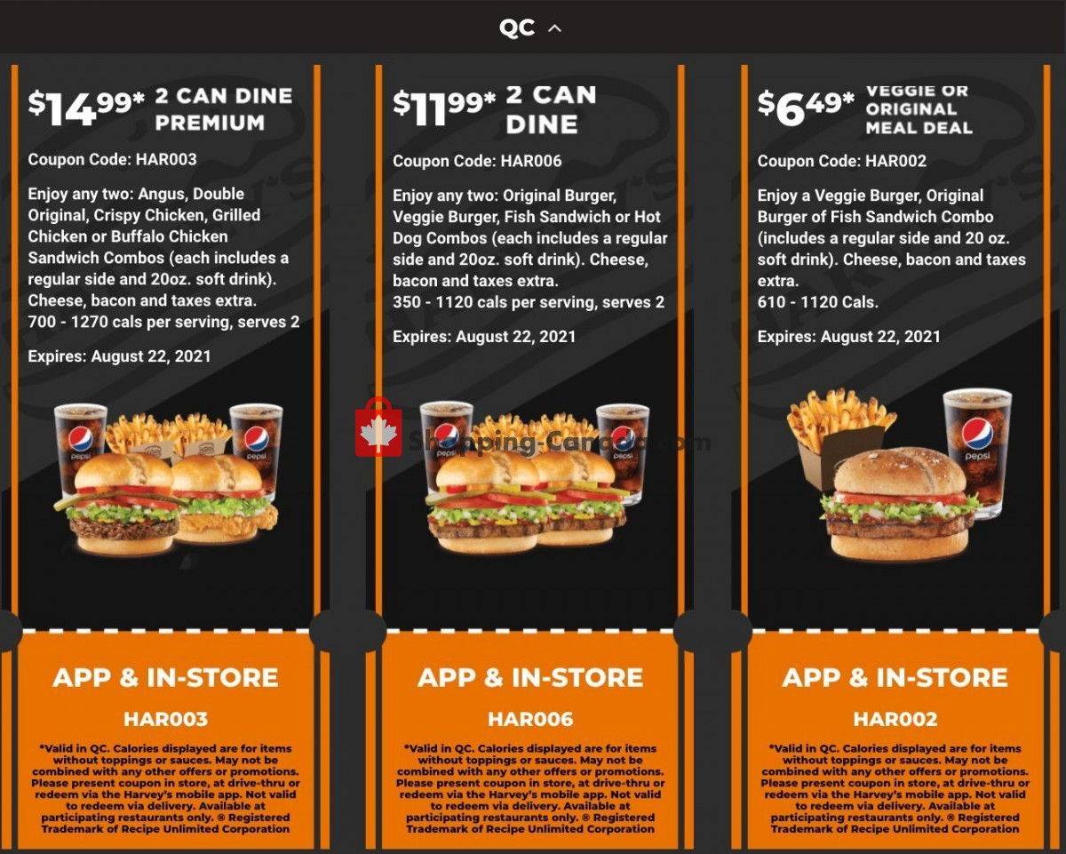 Flyer Harveys Canada - from Friday July 9, 2021 to Sunday August 22, 2021