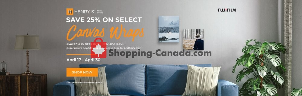 Flyer Henry's Canada - from Wednesday April 17, 2019 to Tuesday April 30, 2019