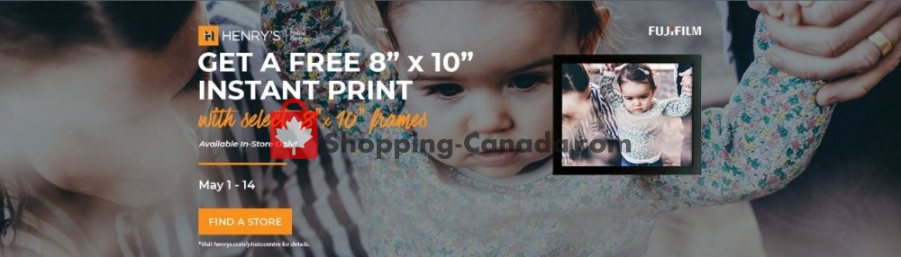 Flyer Henry's Canada - from Wednesday May 1, 2019 to Tuesday May 14, 2019