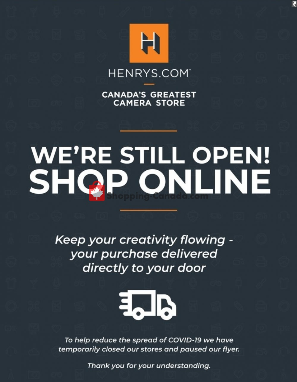 Flyer Henry's Canada - from Wednesday April 22, 2020 to Sunday May 31, 2020