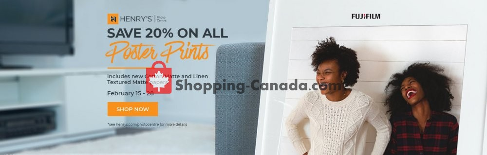 Flyer Henry's Canada - from Friday February 15, 2019 to Thursday February 28, 2019
