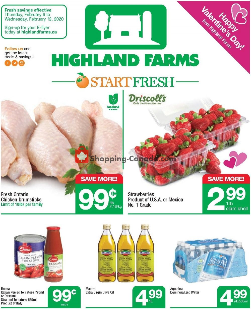 Flyer Highland Farms Canada - from Thursday February 6, 2020 to Wednesday February 12, 2020