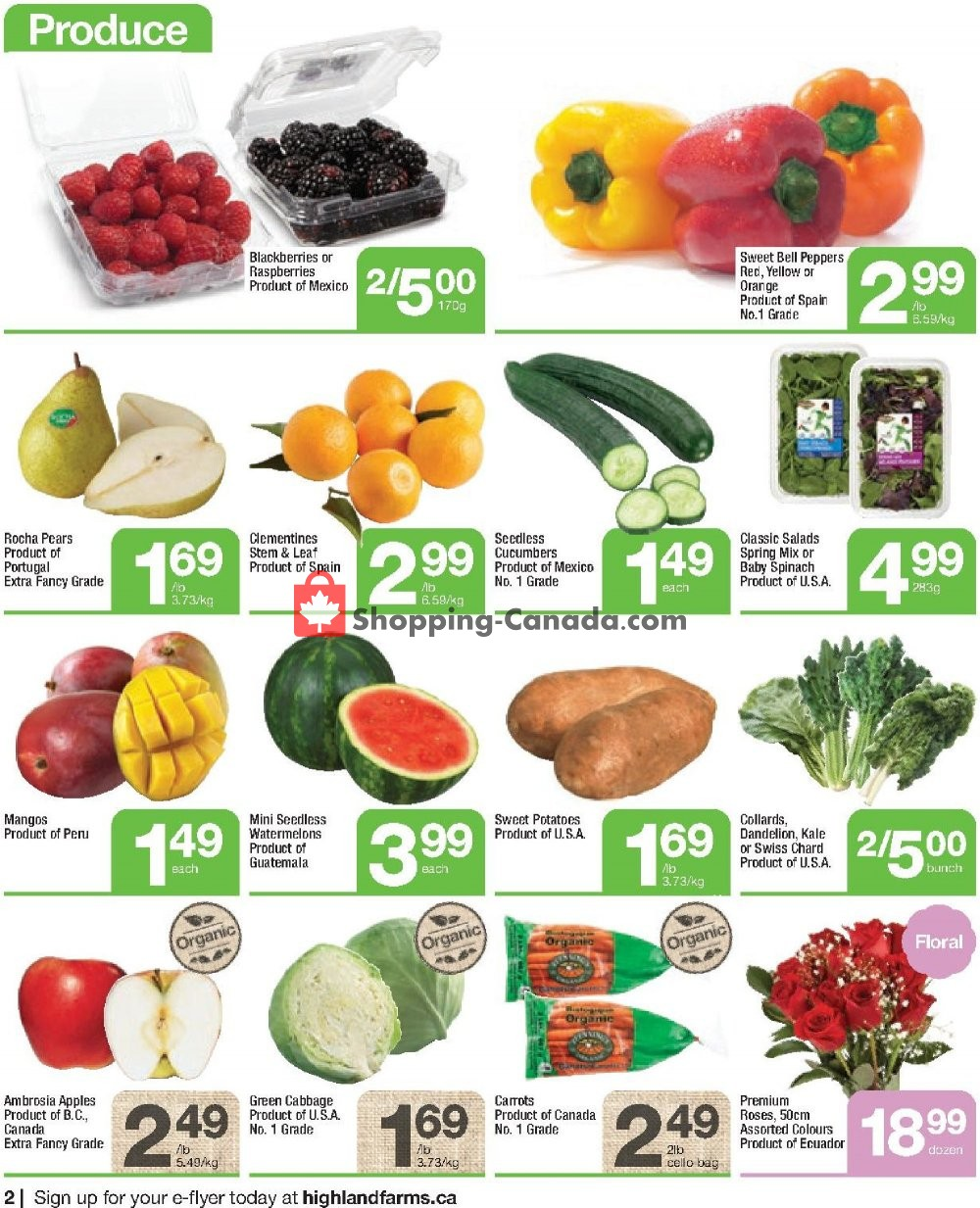 Flyer Highland Farms Canada - from Thursday January 16, 2020 to Wednesday January 22, 2020