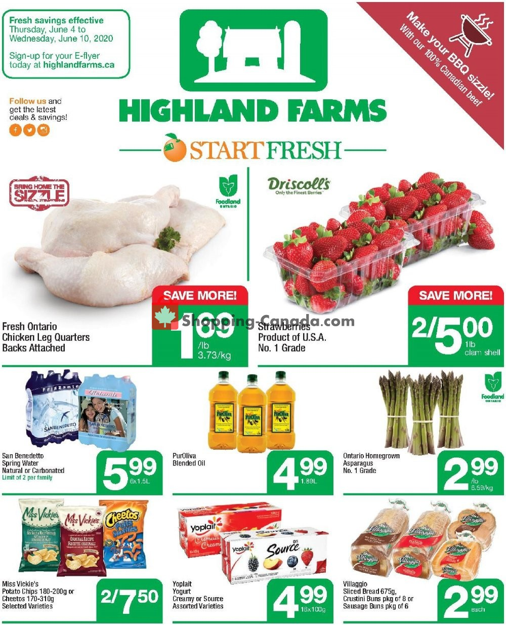 Flyer Highland Farms Canada - from Thursday June 4, 2020 to Wednesday June 10, 2020
