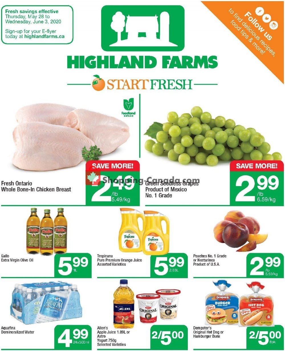 Flyer Highland Farms Canada - from Thursday May 28, 2020 to Wednesday June 3, 2020