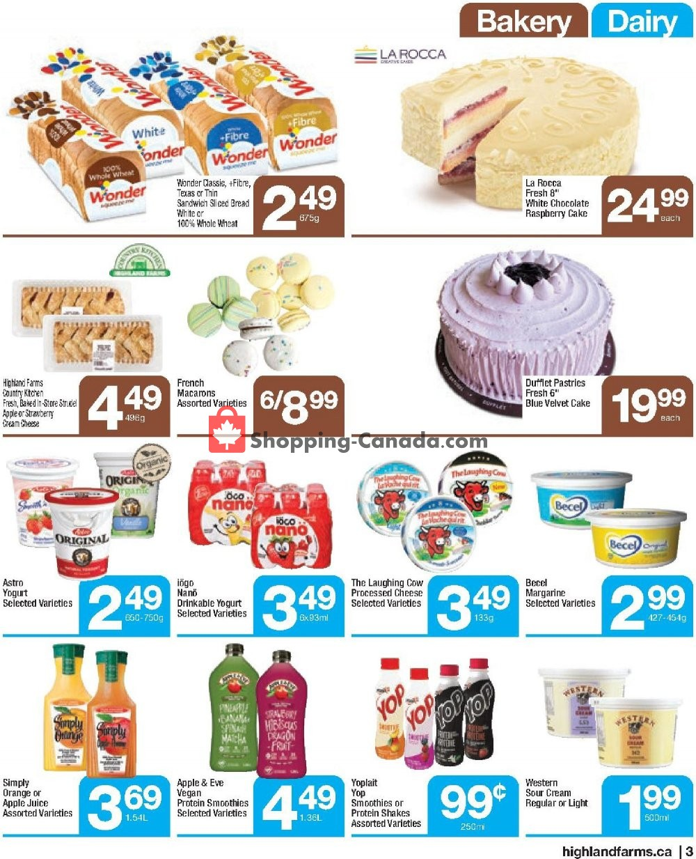Flyer Highland Farms Canada - from Thursday August 8, 2019 to Wednesday August 21, 2019
