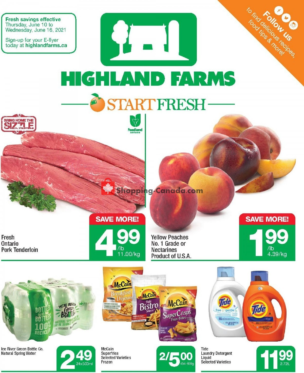 Flyer Highland Farms Canada - from Thursday June 10, 2021 to Wednesday June 16, 2021