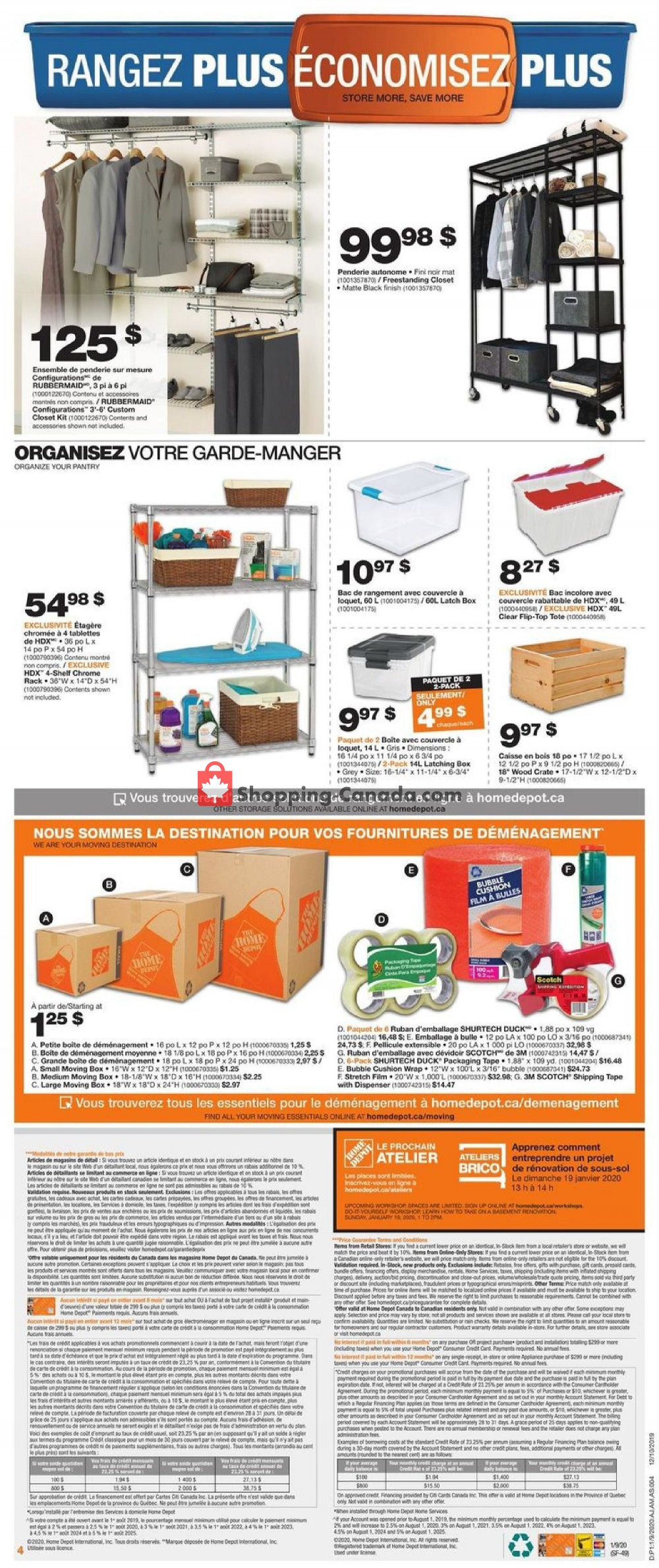 Flyer Home Depot Canada - from Thursday January 9, 2020 to Wednesday January 15, 2020