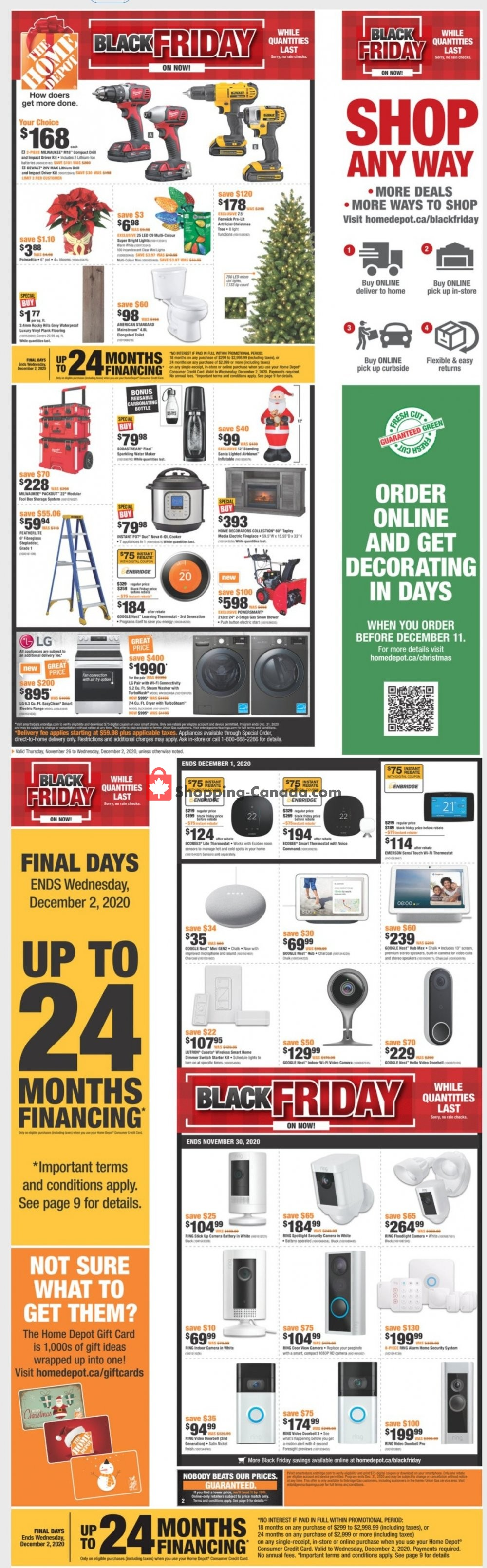 Home Depot Canada, flyer - (Black Friday Offer - ON ...