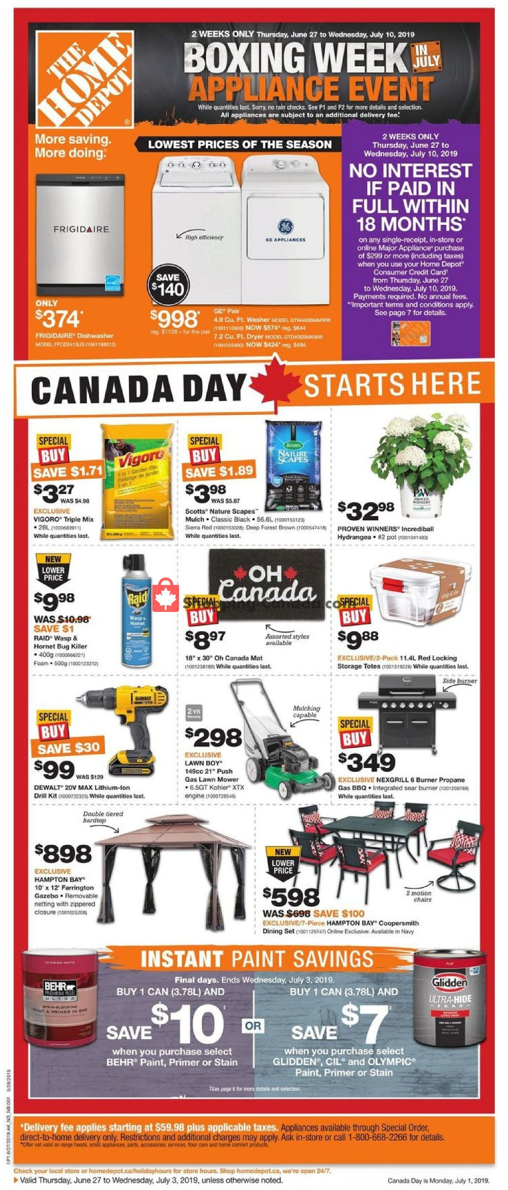 Flyer Home Depot Canada - from Thursday June 27, 2019 to Wednesday July 3, 2019