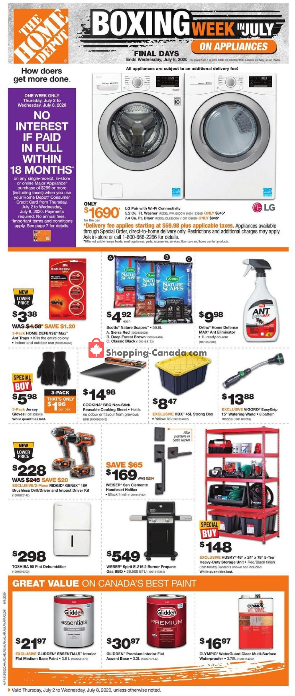 Flyer Home Depot Canada - from Thursday July 2, 2020 to Wednesday July 8, 2020