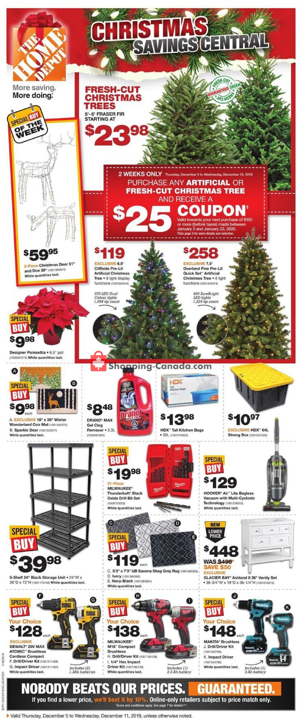 Flyer Home Depot Canada - from Thursday December 5, 2019 to Wednesday December 11, 2019