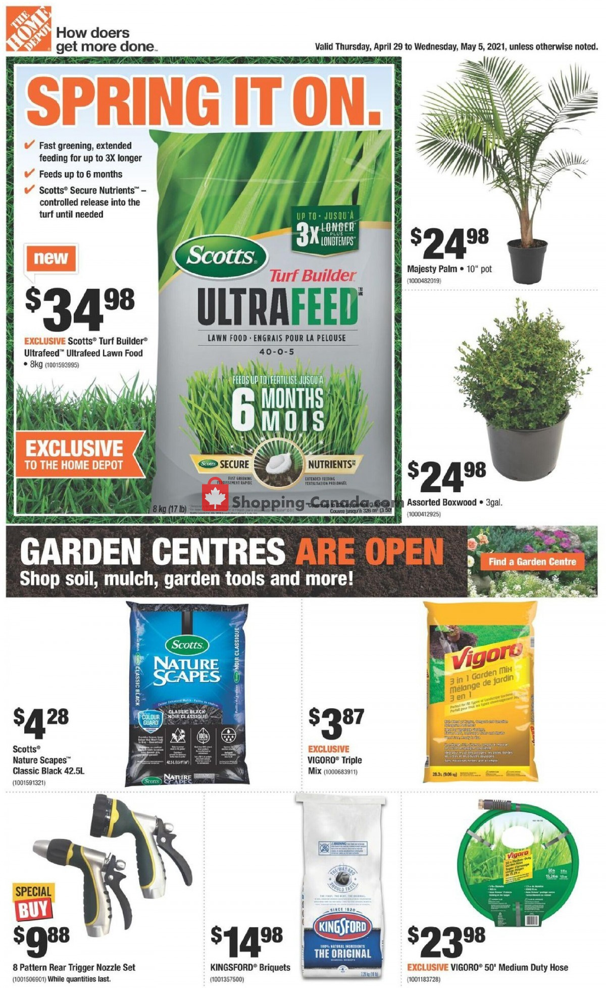 Flyer Home Depot Canada - from Thursday April 29, 2021 to Wednesday May 5, 2021