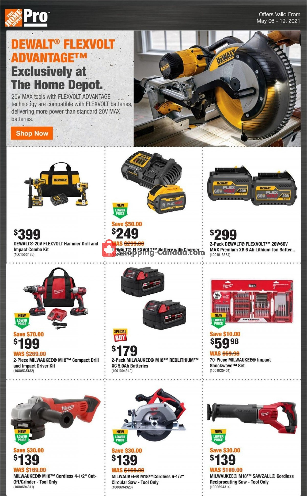 Flyer Home Depot Canada - from Thursday May 6, 2021 to Wednesday May 19, 2021