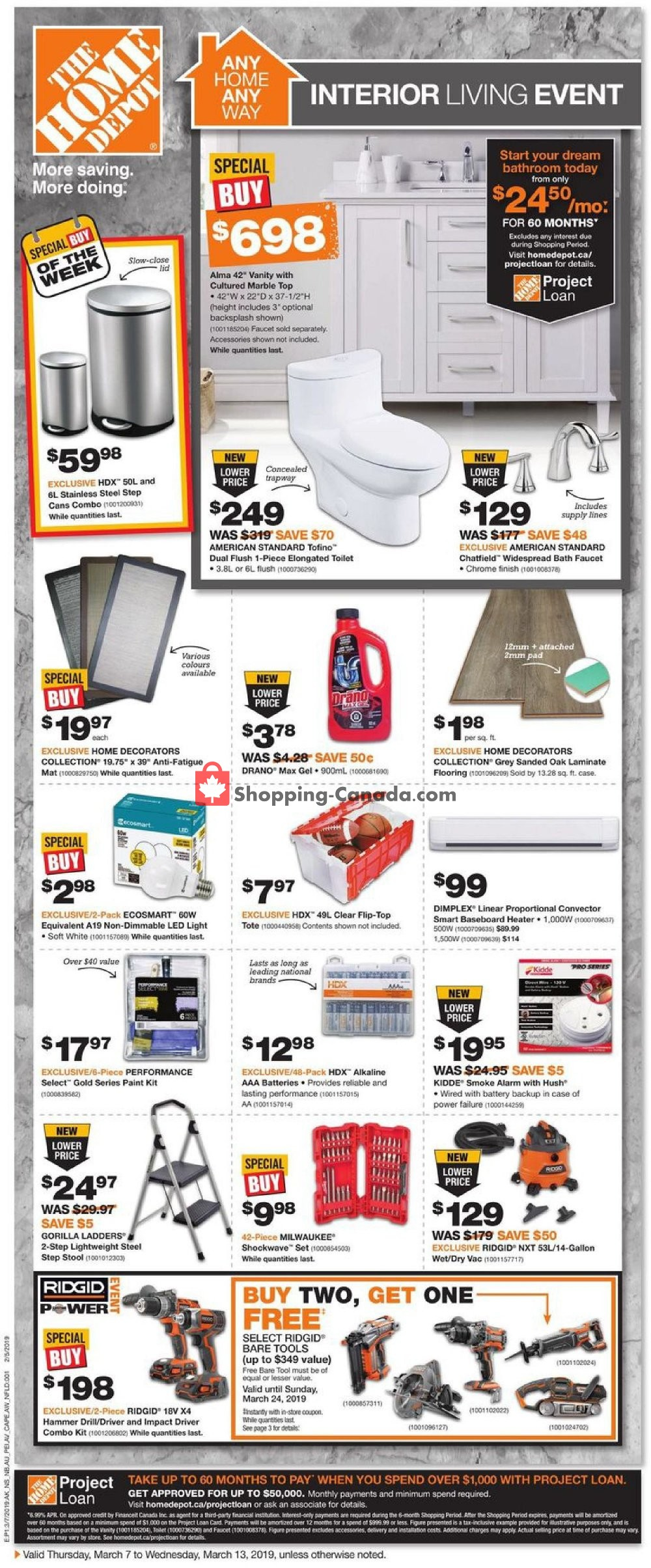 Flyer Home Depot Canada - from Thursday March 7, 2019 to Wednesday March 13, 2019