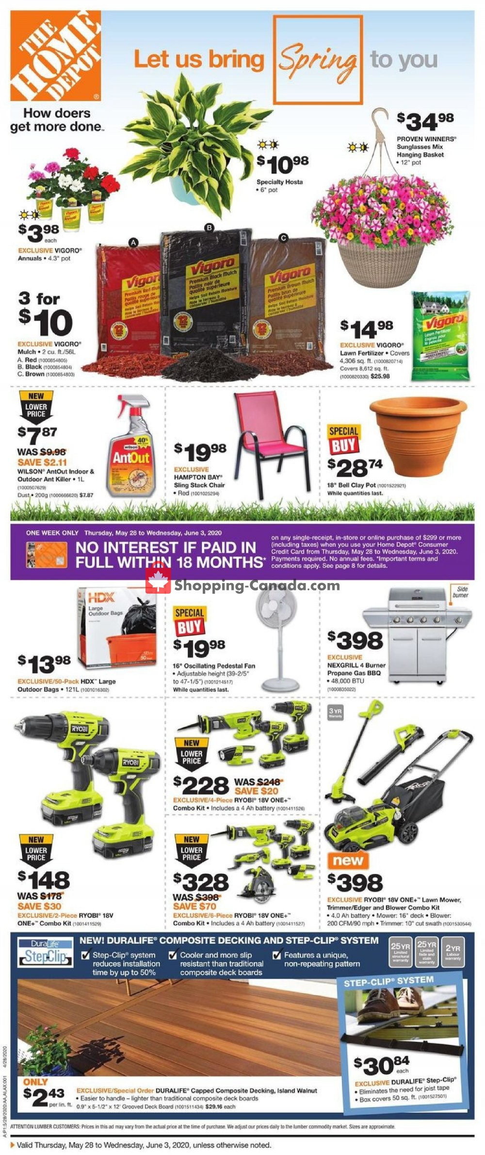 Flyer Home Depot Canada - from Thursday May 28, 2020 to Wednesday June 3, 2020