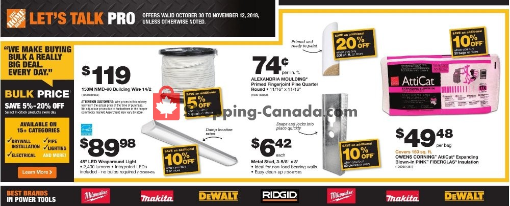 Flyer Home Depot Canada - from Tuesday October 30, 2018 to Monday November 12, 2018