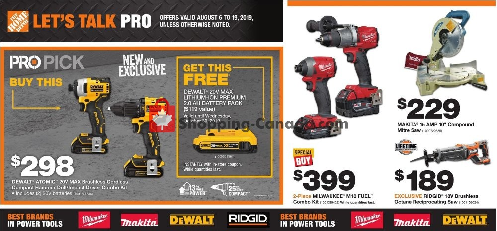 Flyer Home Depot Canada - from Tuesday August 6, 2019 to Monday August 19, 2019