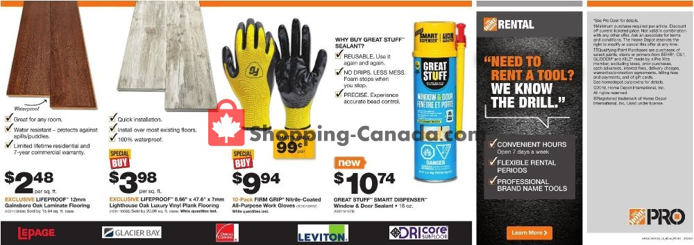 Flyer Home Depot Canada - from Tuesday March 5, 2019 to Monday March 18, 2019