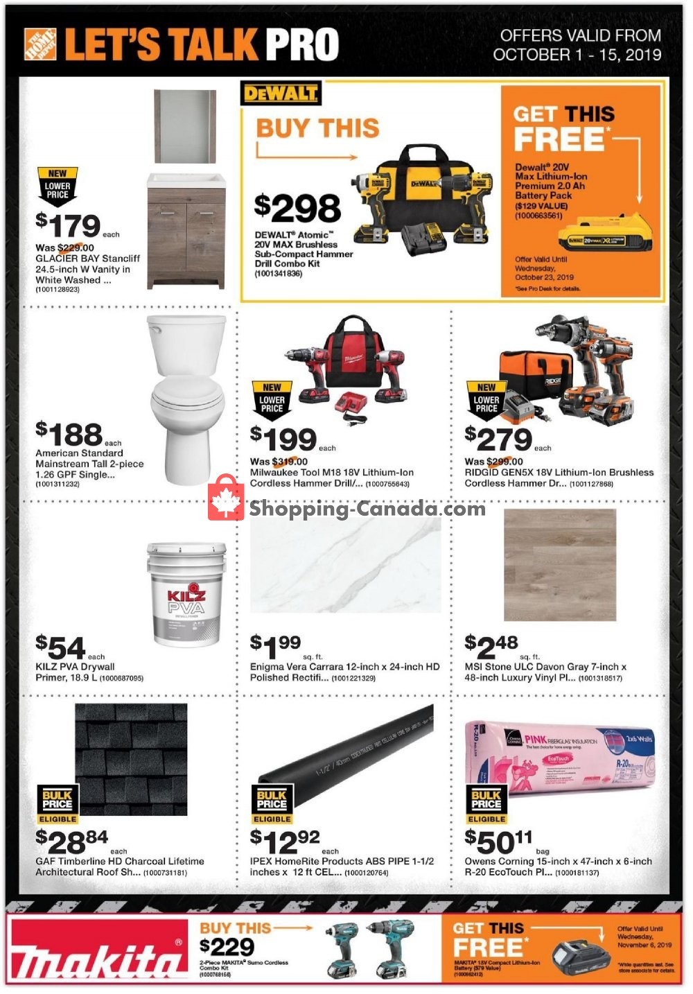 Flyer Home Depot Canada - from Tuesday October 1, 2019 to Tuesday October 15, 2019