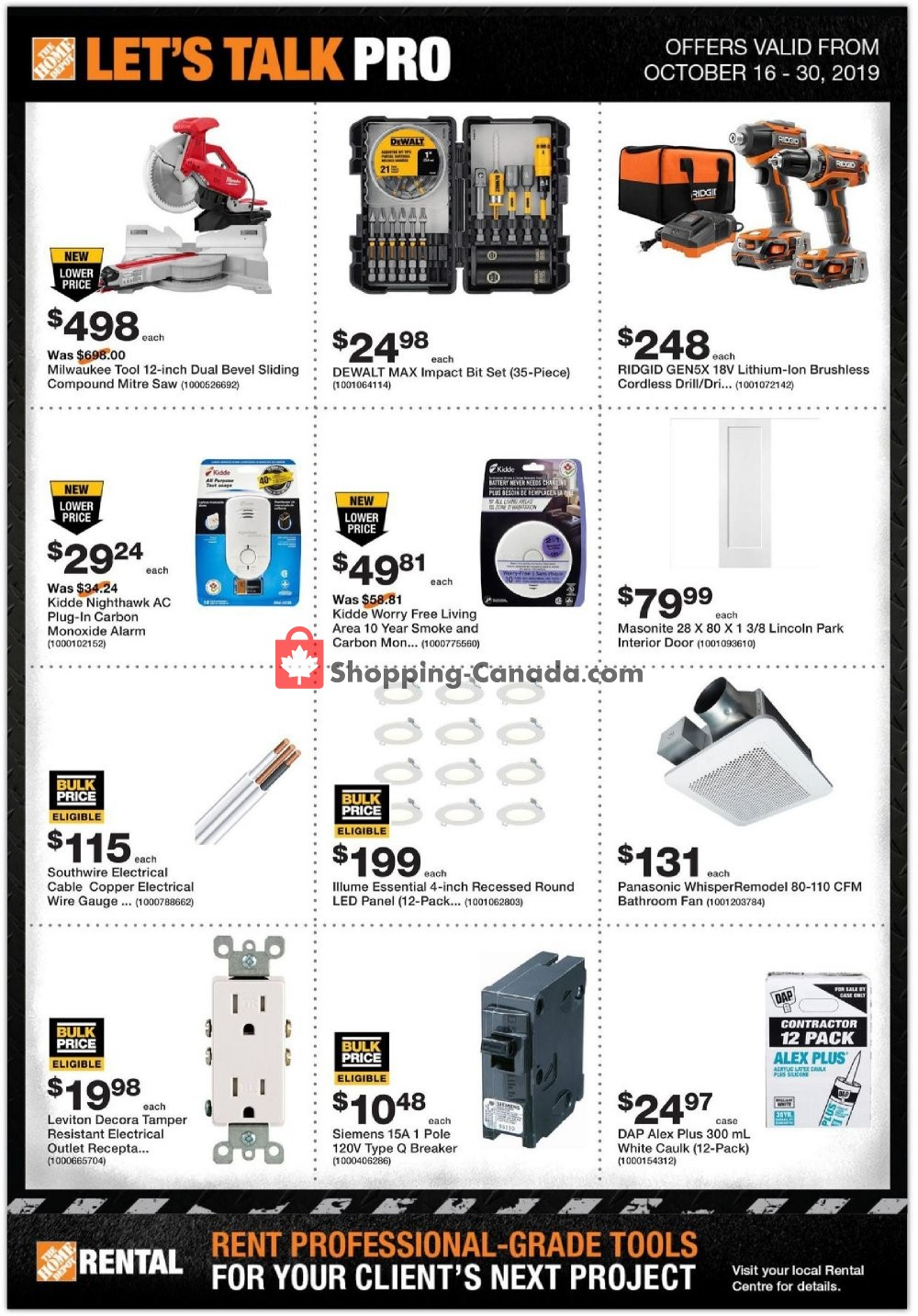 Flyer Home Depot Canada - from Wednesday October 16, 2019 to Wednesday October 30, 2019