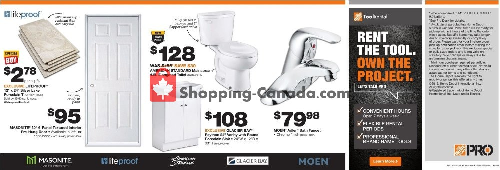 Flyer Home Depot Canada - from Tuesday October 2, 2018 to Tuesday October 16, 2018