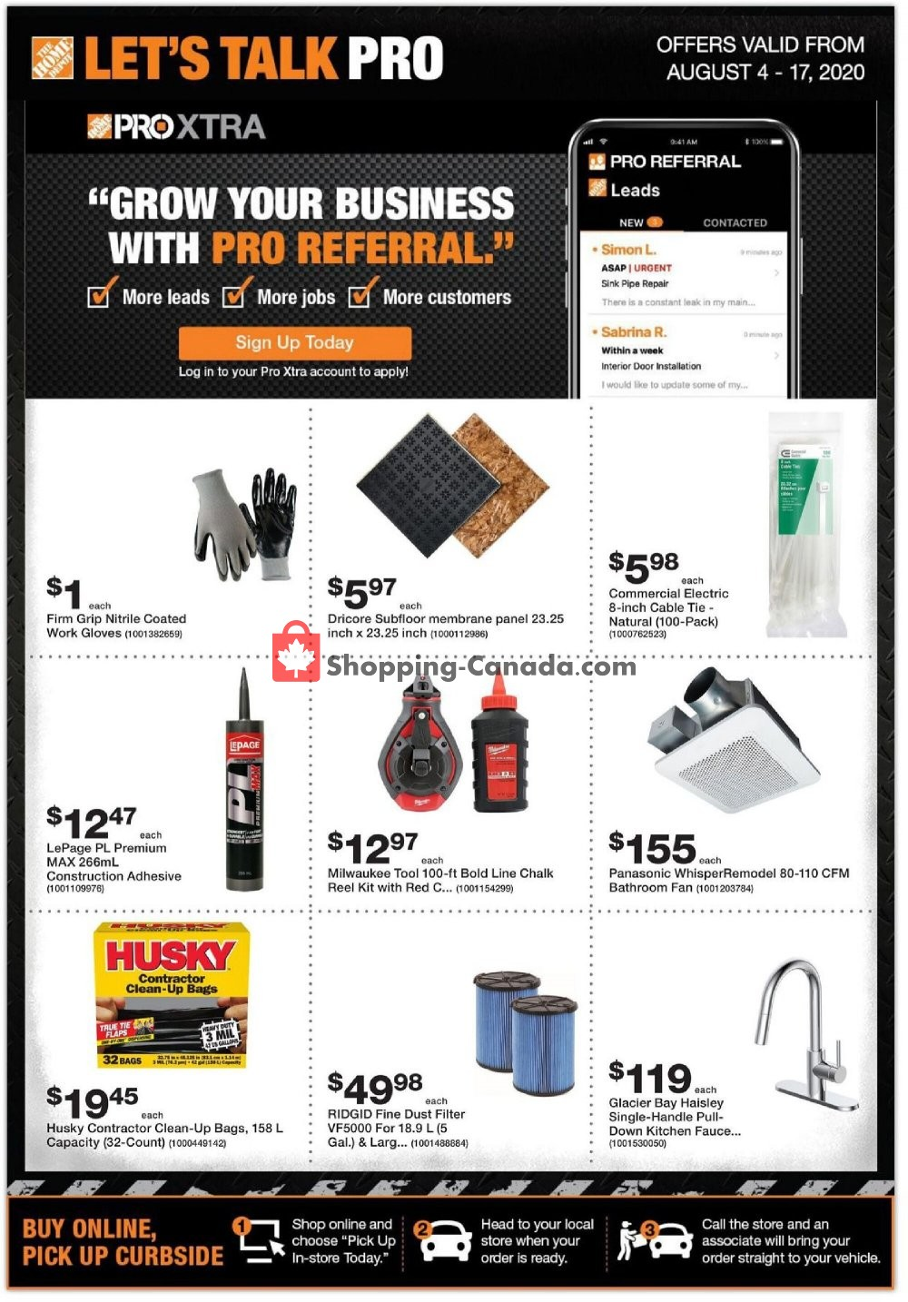 Flyer Home Depot Canada - from Tuesday August 4, 2020 to Monday August 17, 2020