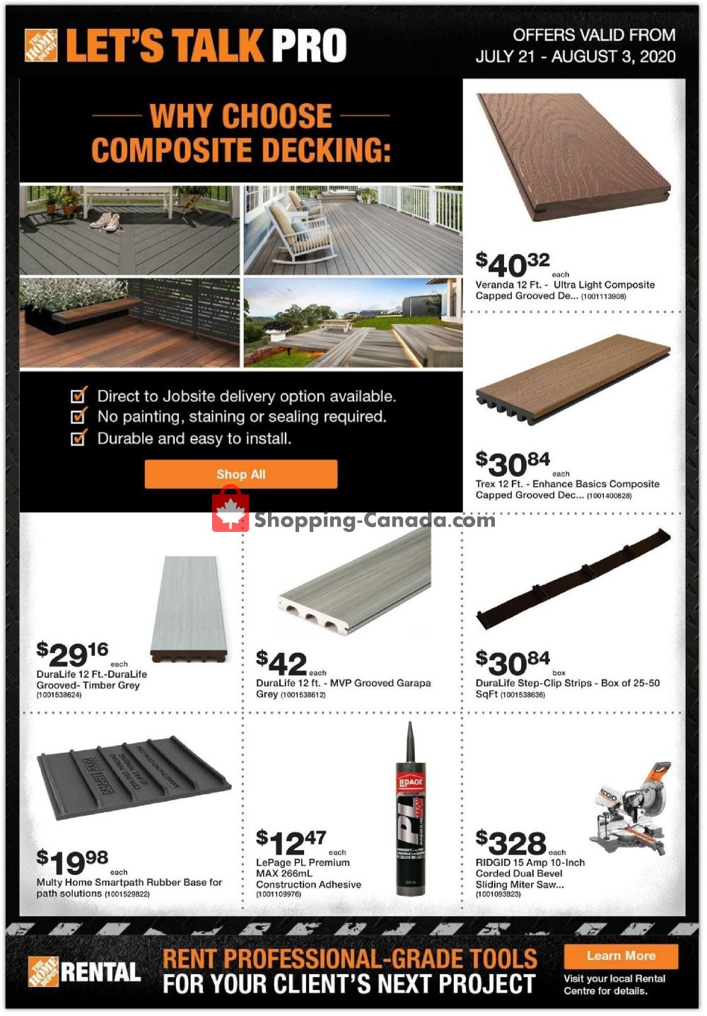 Flyer Home Depot Canada - from Tuesday July 21, 2020 to Monday August 3, 2020