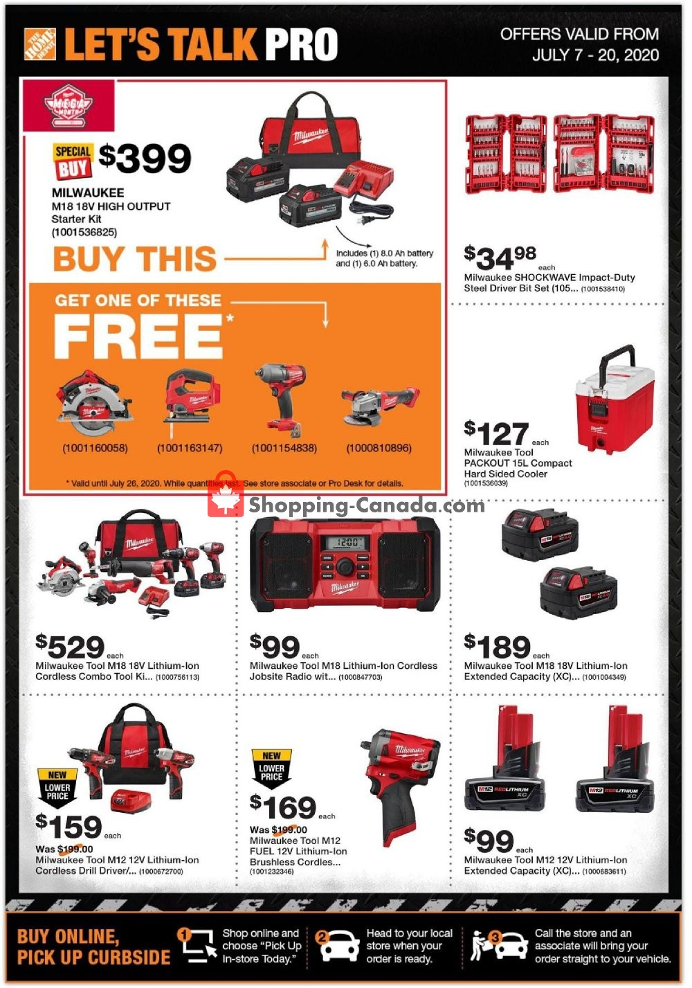Flyer Home Depot Canada - from Tuesday July 7, 2020 to Monday July 20, 2020