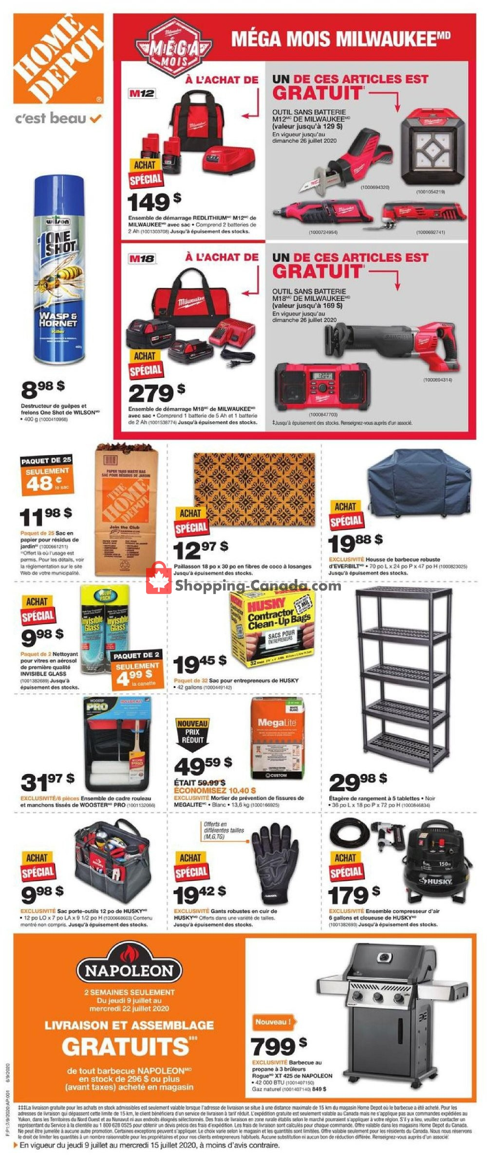 Flyer Home Depot Canada - from Thursday July 9, 2020 to Wednesday July 15, 2020