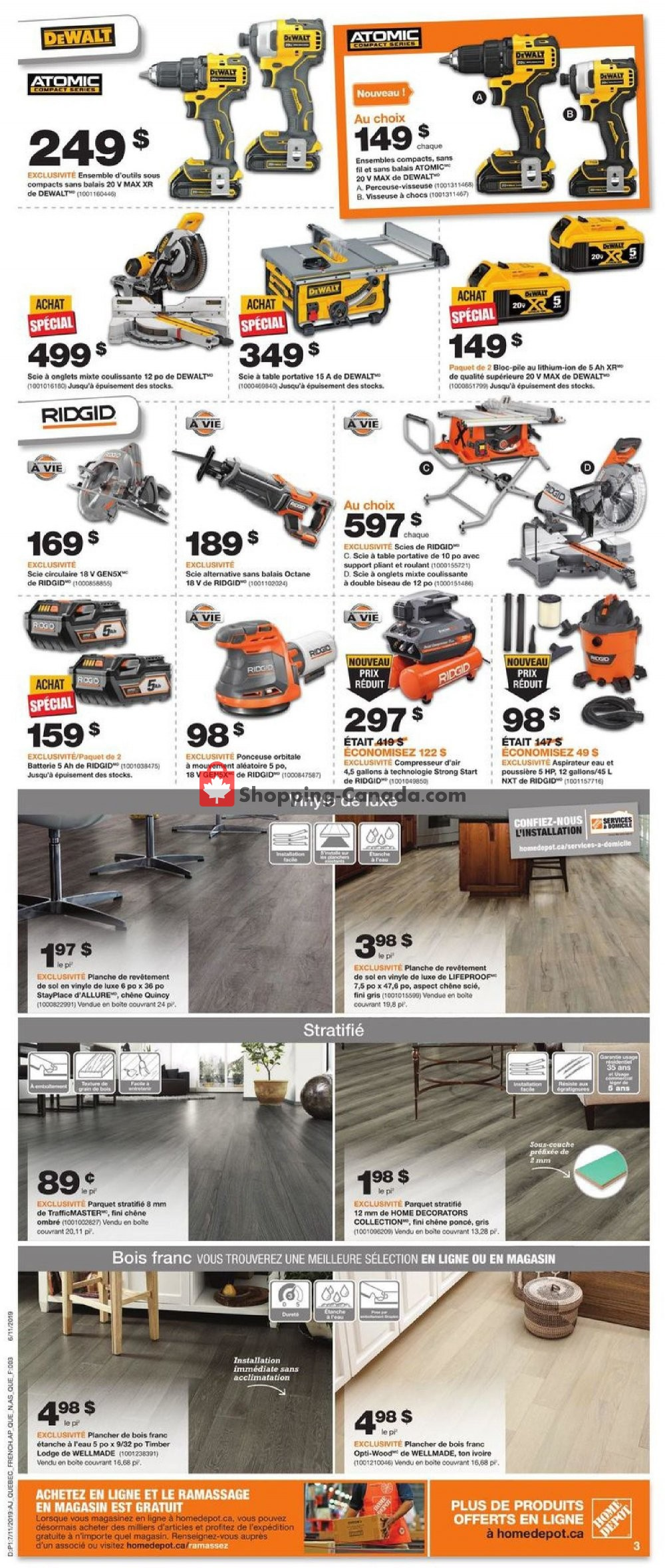 Flyer Home Depot Canada - from Thursday July 11, 2019 to Wednesday July 17, 2019