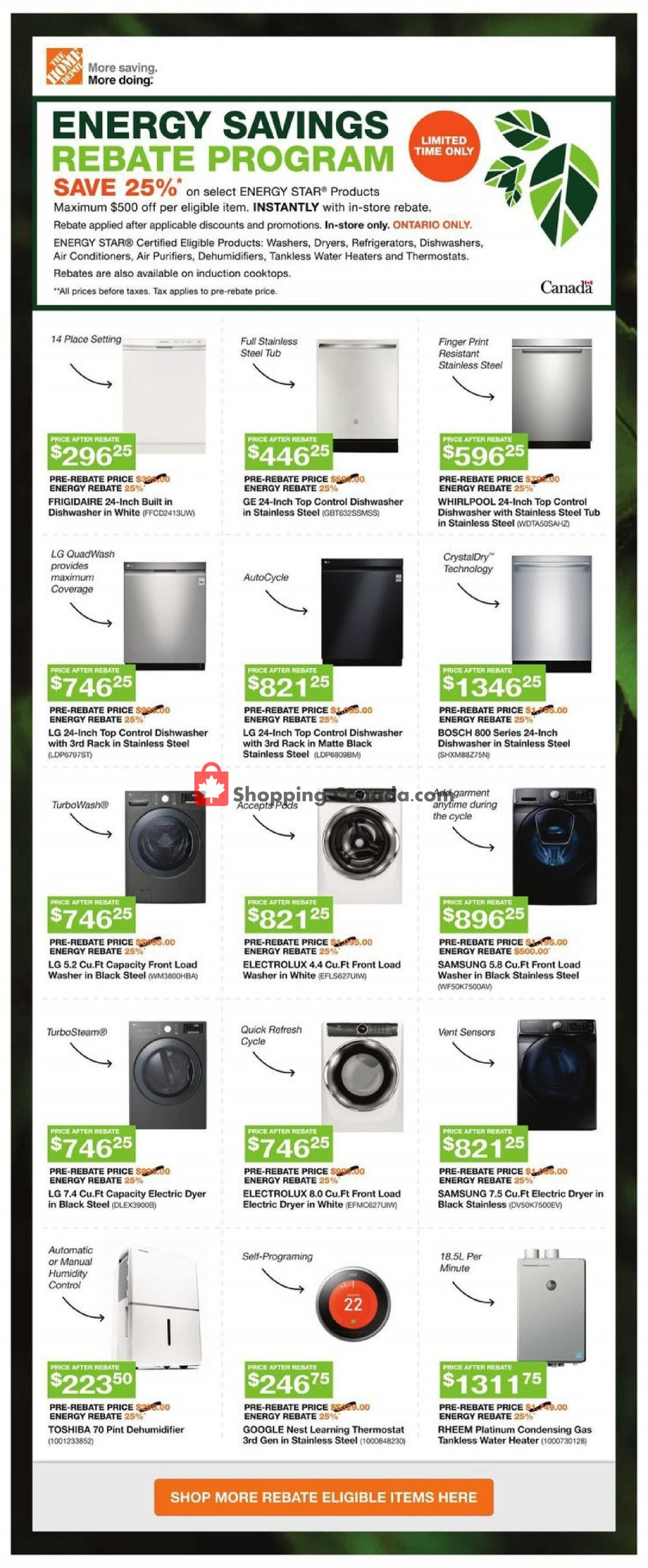 Flyer Home Depot Canada - from Thursday November 7, 2019 to Wednesday November 13, 2019