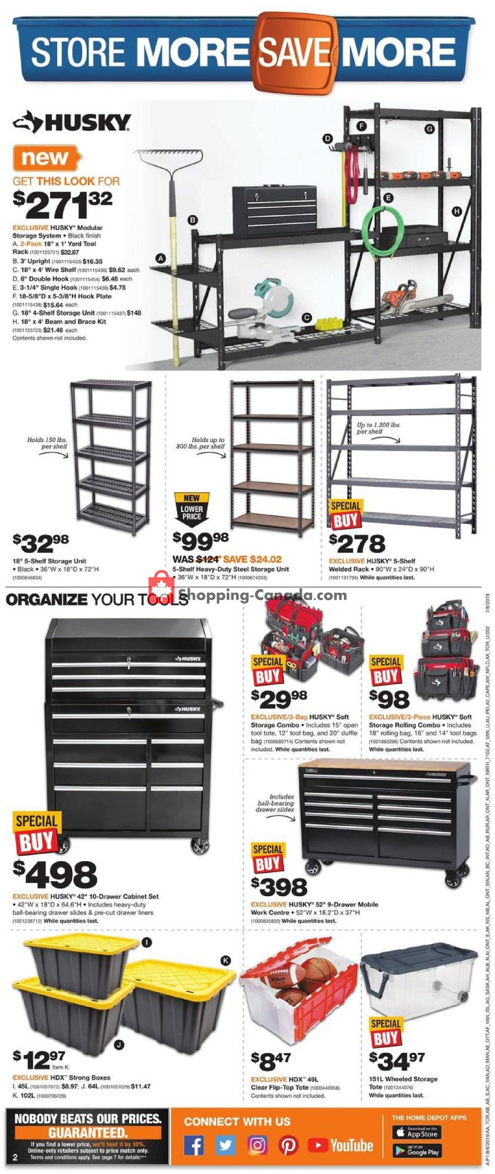 Flyer Home Depot Canada - from Thursday August 8, 2019 to Wednesday August 14, 2019