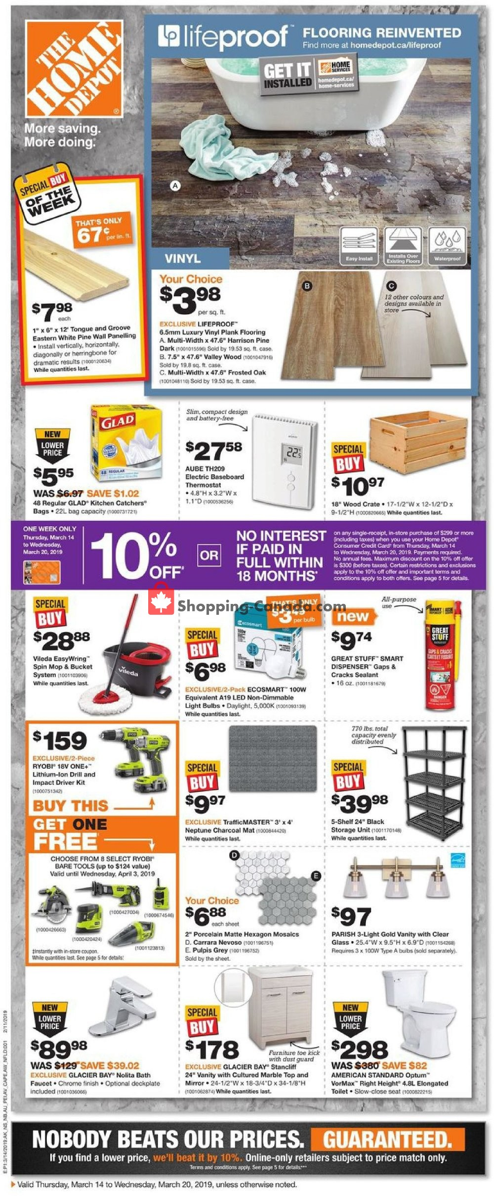 Flyer Home Depot Canada - from Thursday March 14, 2019 to Wednesday March 20, 2019