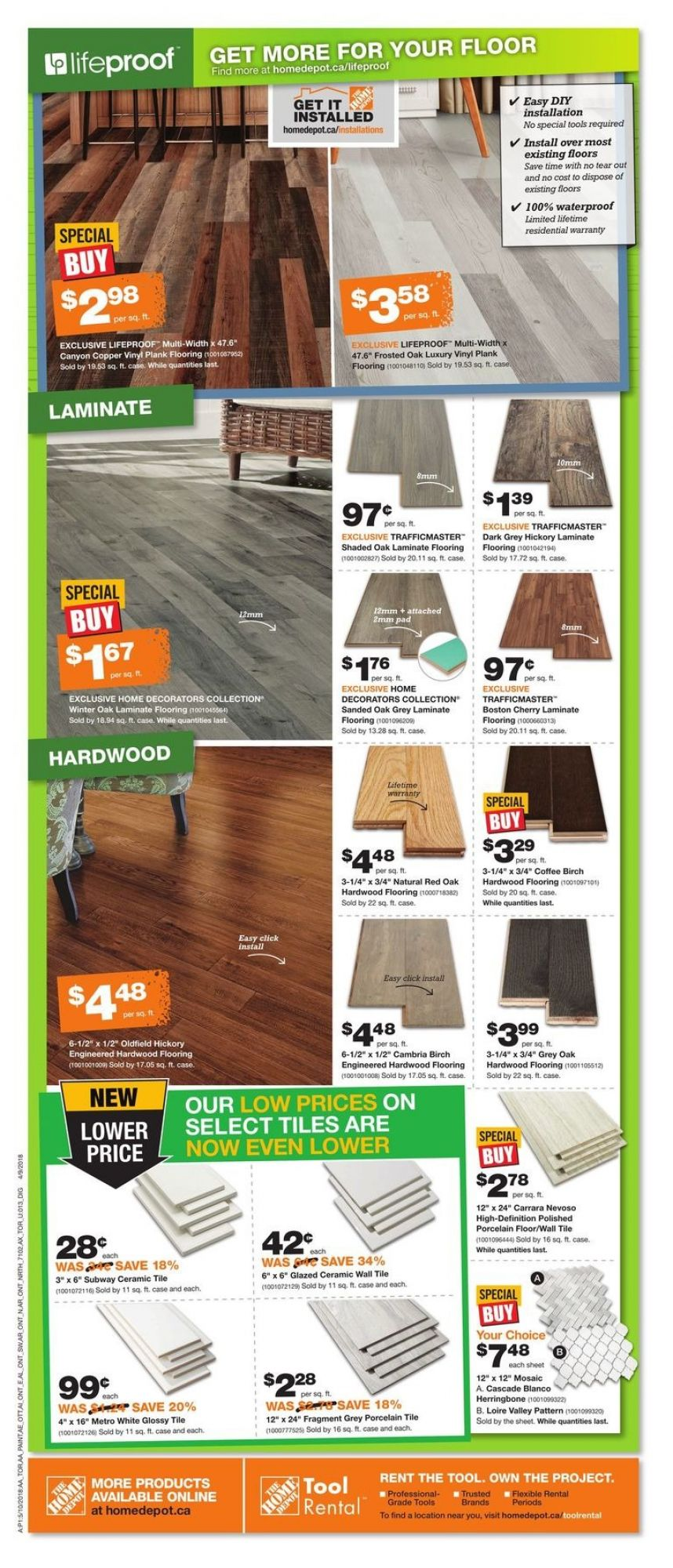 Flyer Home Depot Canada - from Thursday May 10, 2018 to Wednesday May 16, 2018