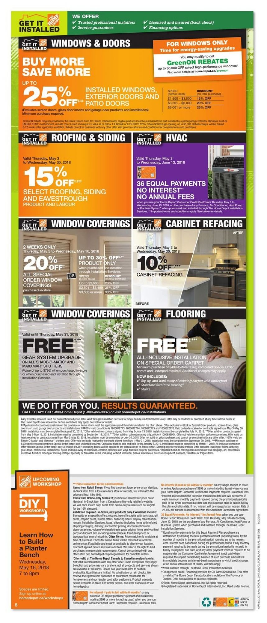 Flyer Home Depot Canada - from Thursday May 3, 2018 to Wednesday May 9, 2018